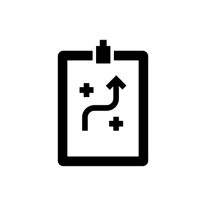 Vector image of a flat, isolated icon planning sign