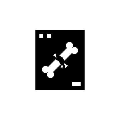 Vector image of a flat, isolated icon x-ray sign