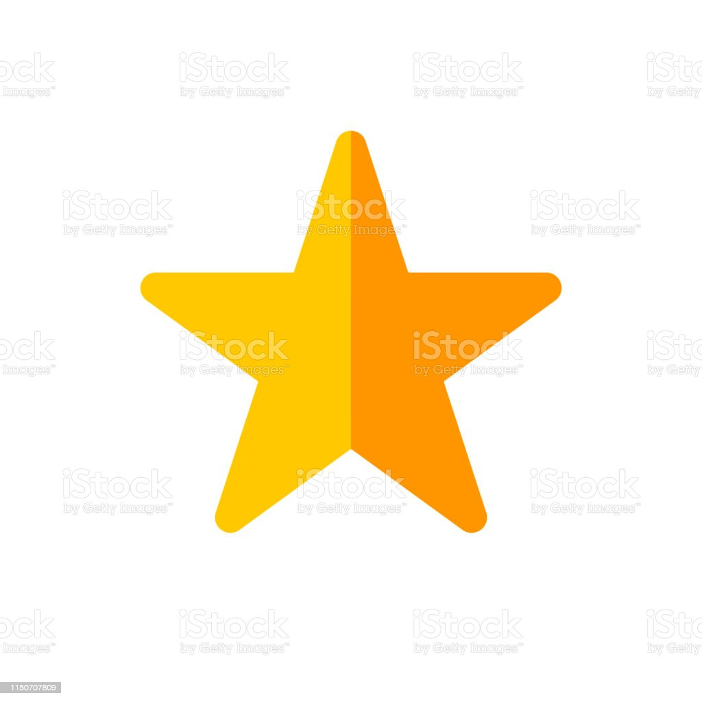 Vector image of a flat, star icon. Isolated star on a white background