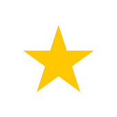 Vector image of a flat star icon. Isolated star on a white background