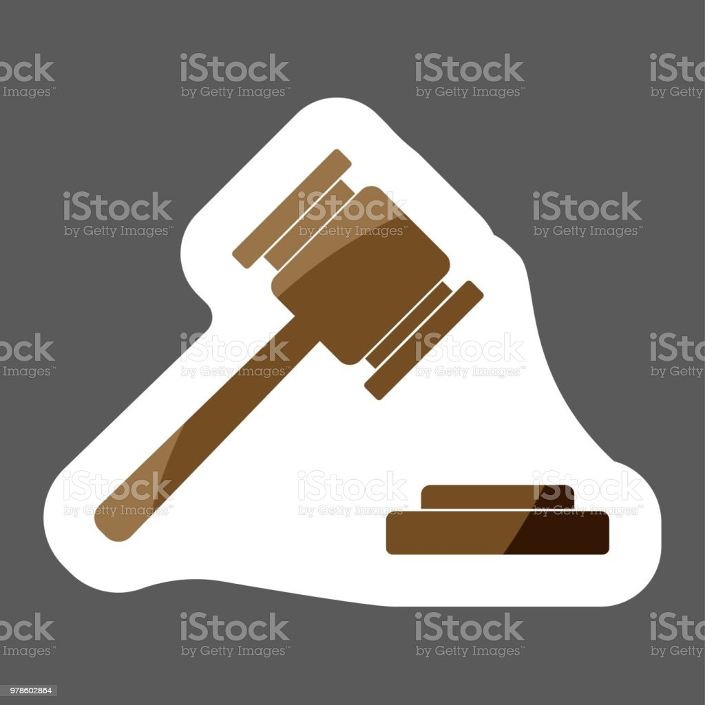 vector image of a judge gavel court hammer vector icon of a hammer