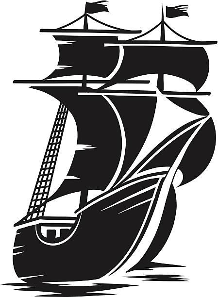 Best Sailing Ship Illustrations, Royalty-Free Vector ...