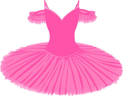 vector image of a tutu in pink