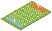 Vector image of an American football field
