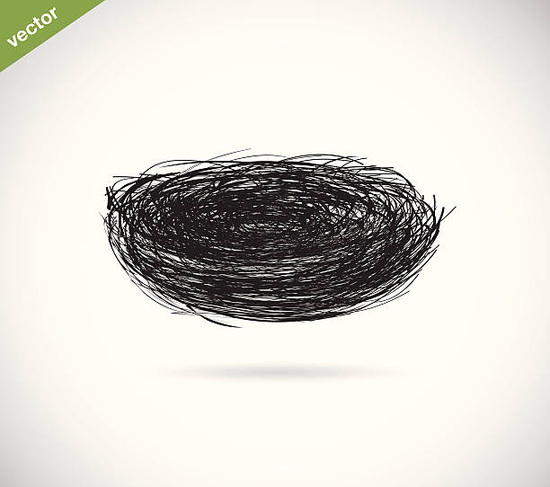 bildbanksillustrationer, clip art samt tecknat material och ikoner med vector image of an bird's nest - bo