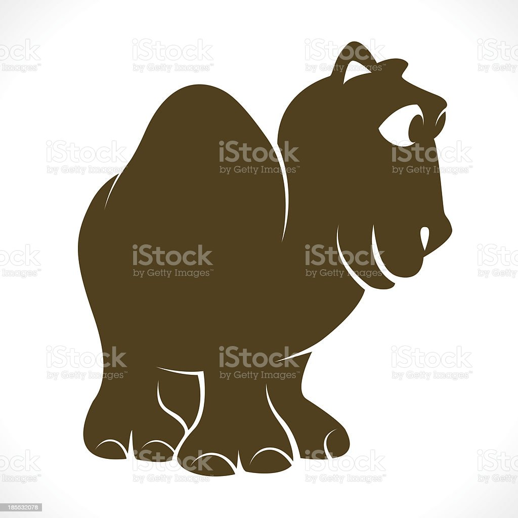 Vector image of an camel royalty-free stock vector art