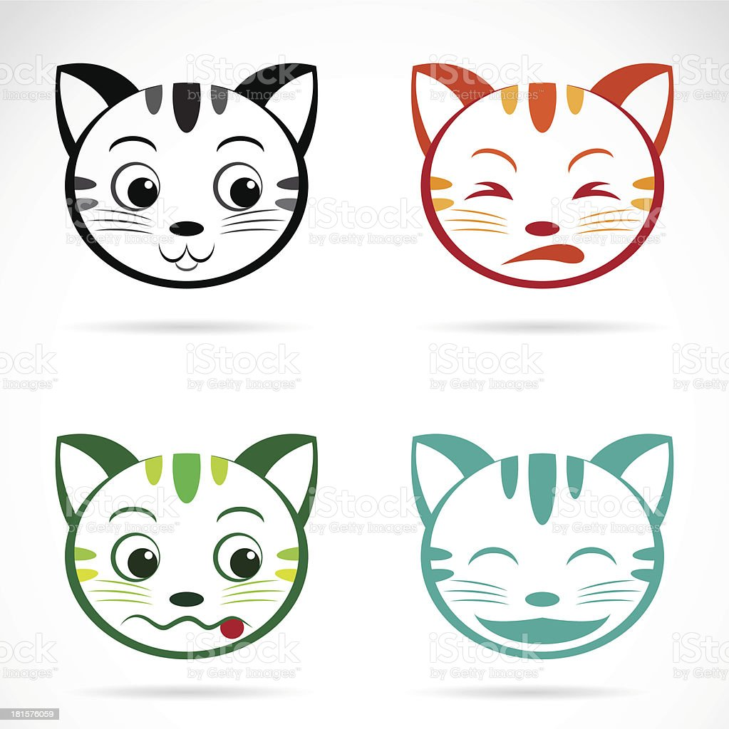Vector image of an cat face royalty-free stock vector art