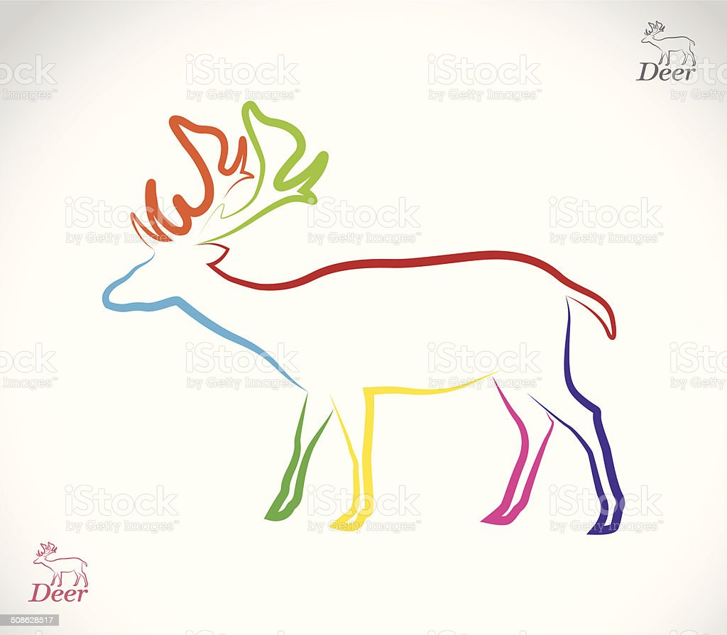Vector image of an deer royalty-free stock vector art