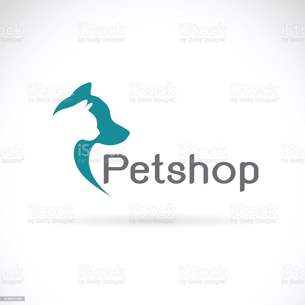 Vector image of an dog and cat design vector art illustration