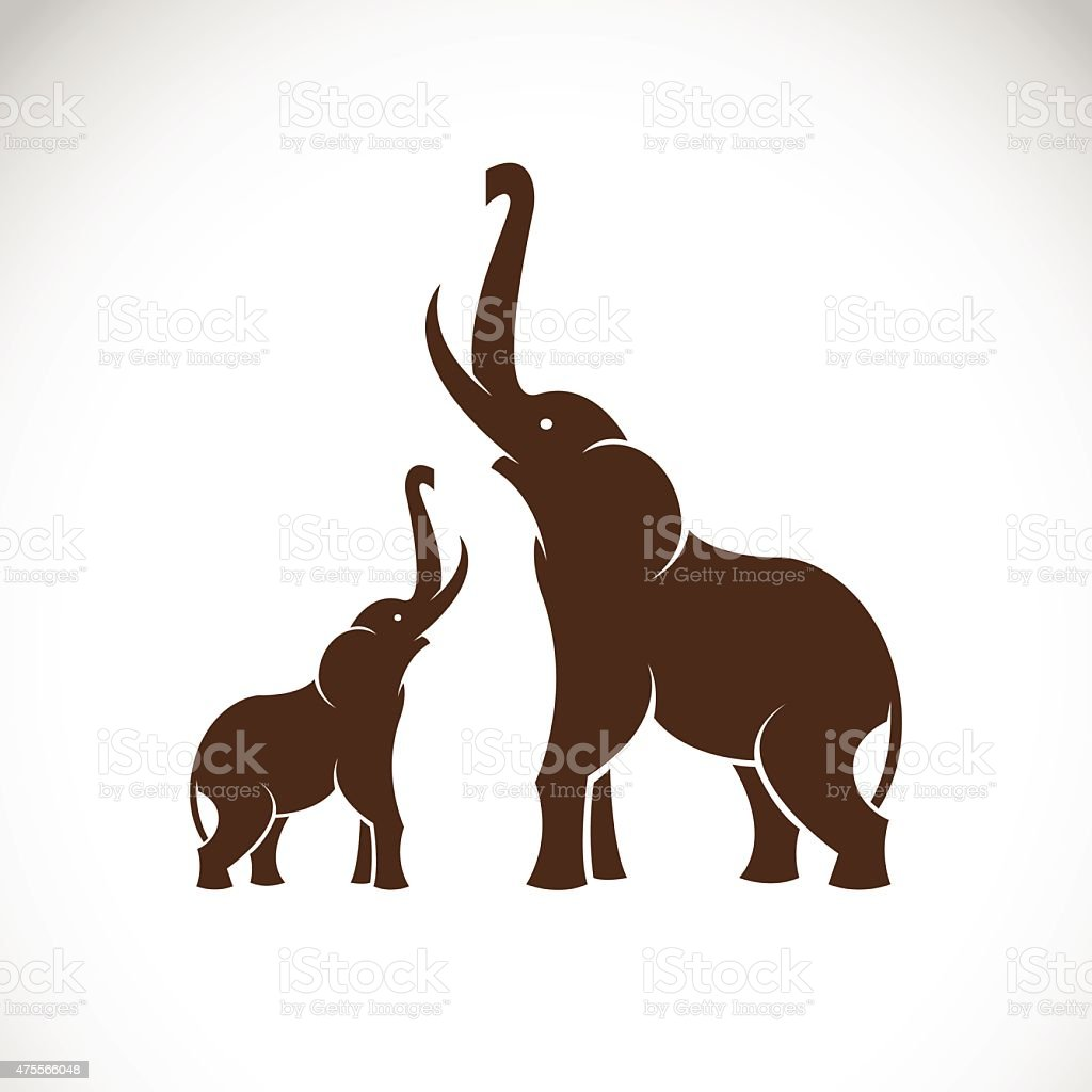 Vector image of an elephant on white background vector art illustration
