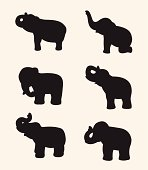 Vector image of an elephant silhouette