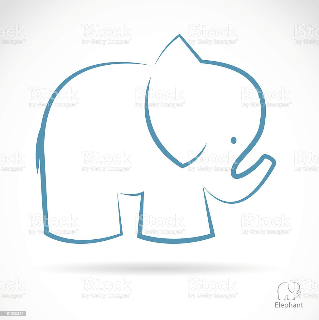 Vector image of an elephant vector art illustration