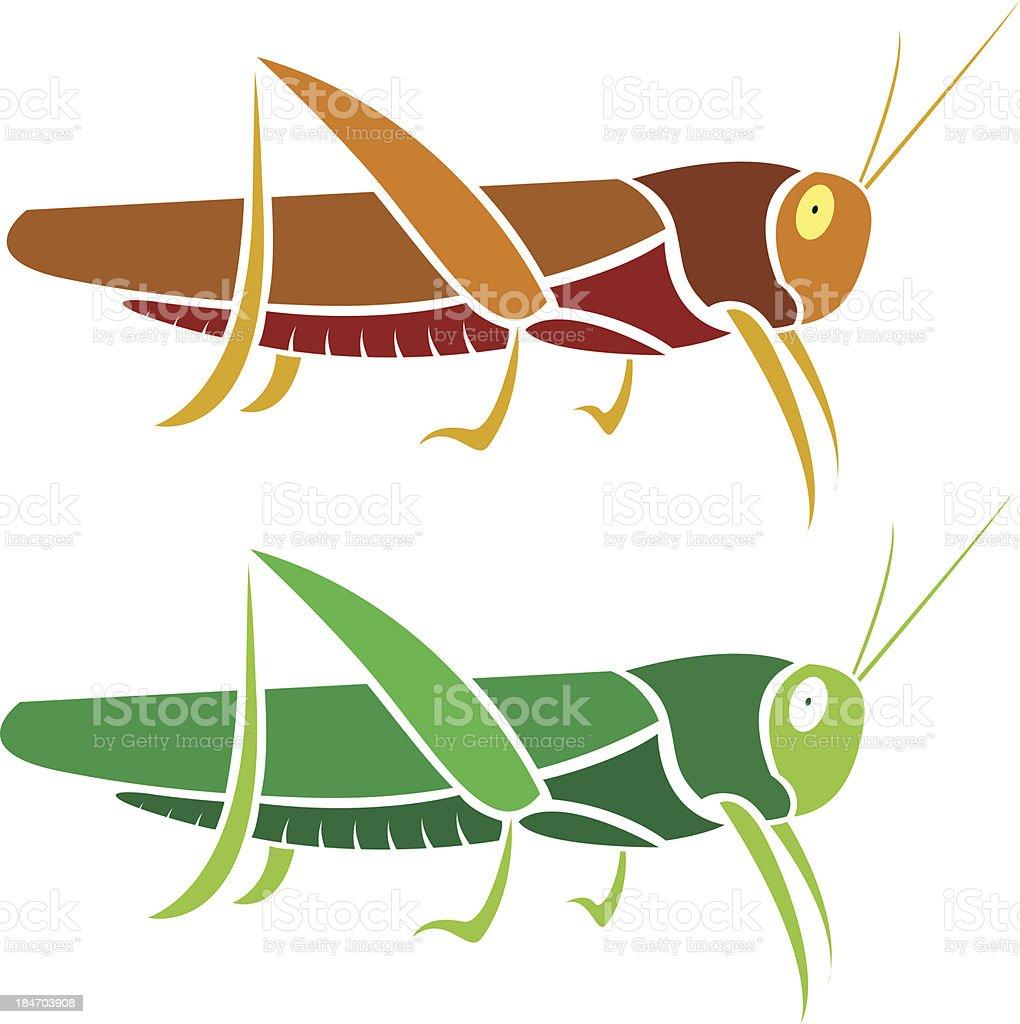Vector image of an grasshopper royalty-free stock vector art