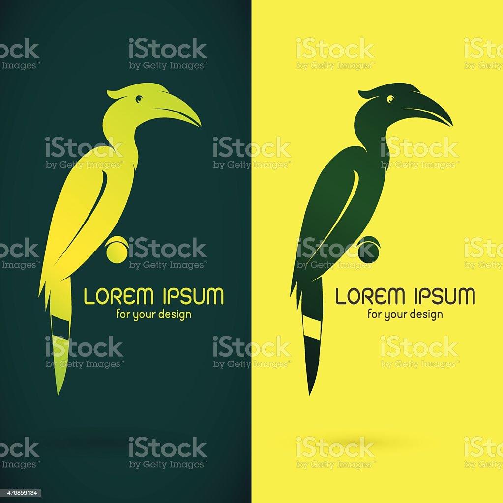 Vector image of an hornbill design vector art illustration