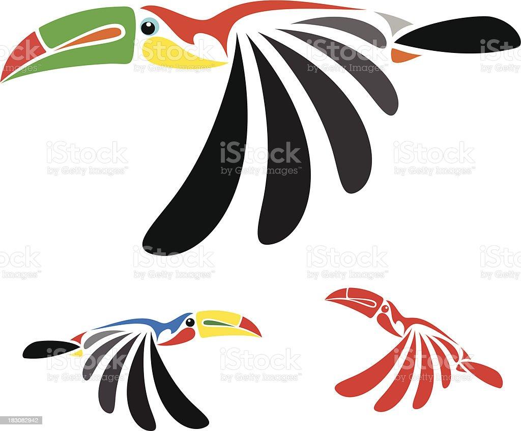 Vector image of an hornbill vector art illustration