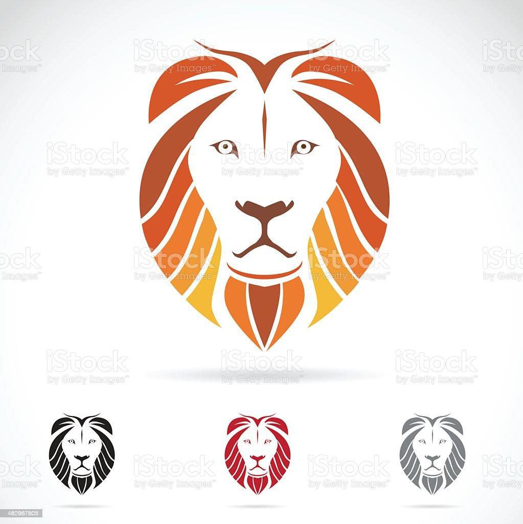 Vector image of an lion head vector art illustration