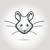 Vector image of an rat on a white background
