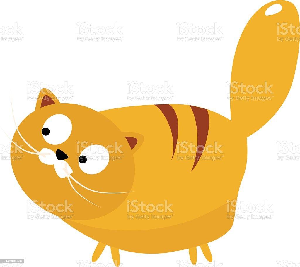 Vector Image of Big Cat vector art illustration