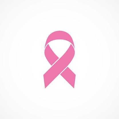Vector image of breast cancer awareness ribbon.Pink ribbon.
