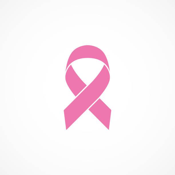 wektorowy obraz wstążki świadomości raka piersi. różowa wstążka. - różowy stock illustrations