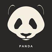 Vector image of Chinese Panda Bear. Cute bear snout.