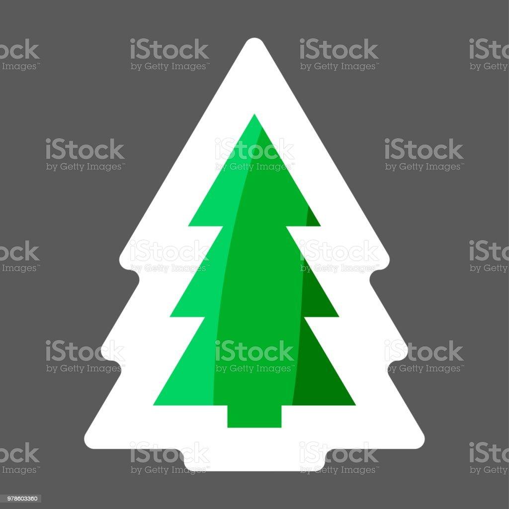 Bild Tannenbaum.Vektorbild Der Weihnachtsbaum Tannenbaum Vektorsymbol Farbigen