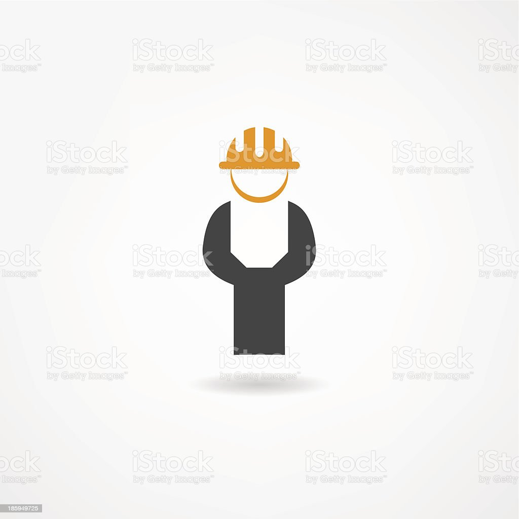 Vector image of engineer icon isolated on white royalty-free stock vector art