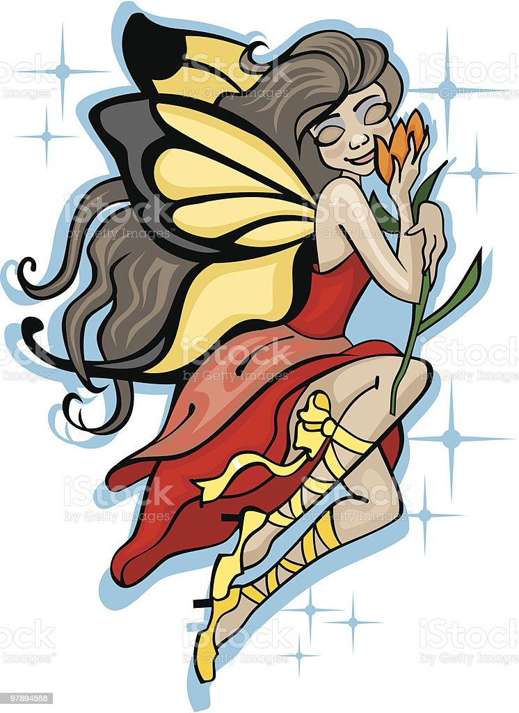 Vector image of flying fairy royalty-free vector image of flying fairy stock vector art & more images of abstract