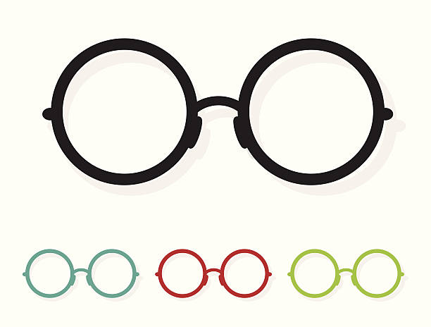 wektor obraz okulary, biały - okulary stock illustrations