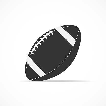 Vector image of icon American football ball.