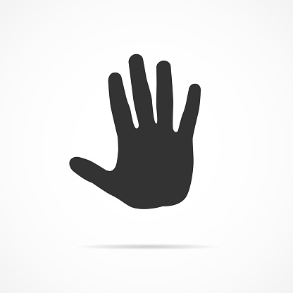 Vector image of icon hand.