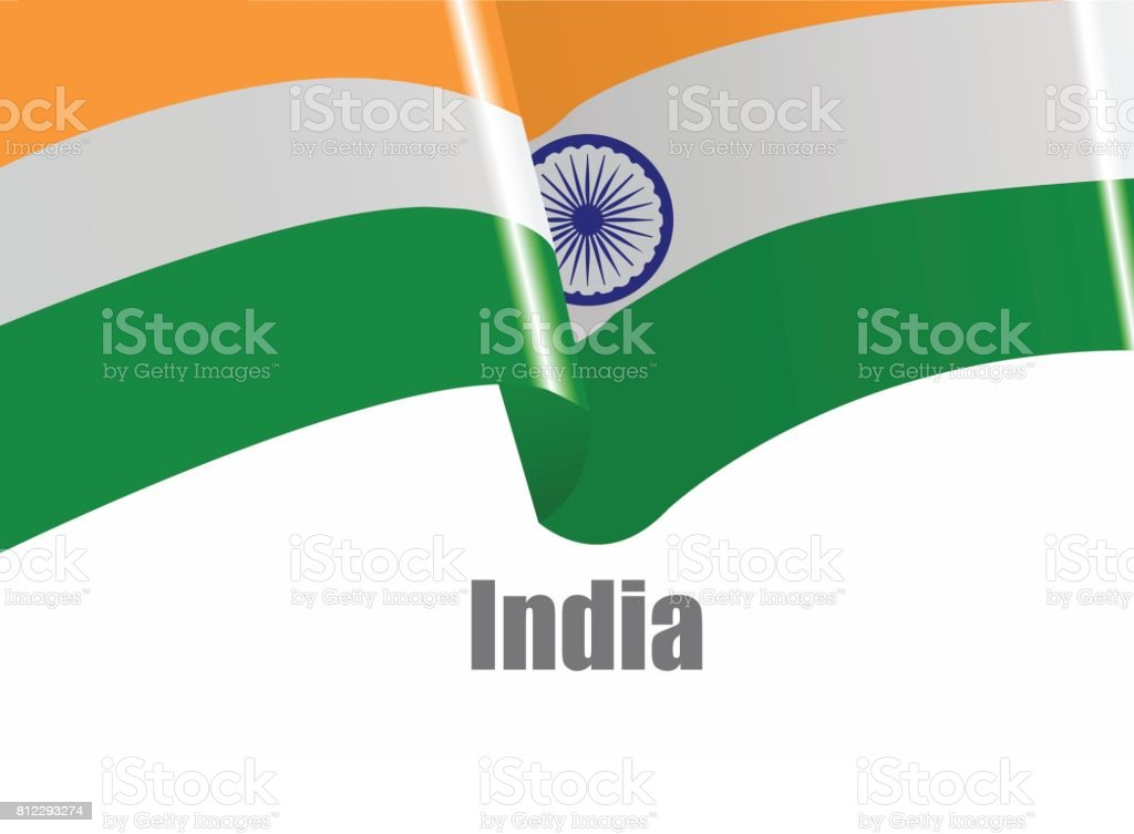 Vector image of India waving flag vector art illustration
