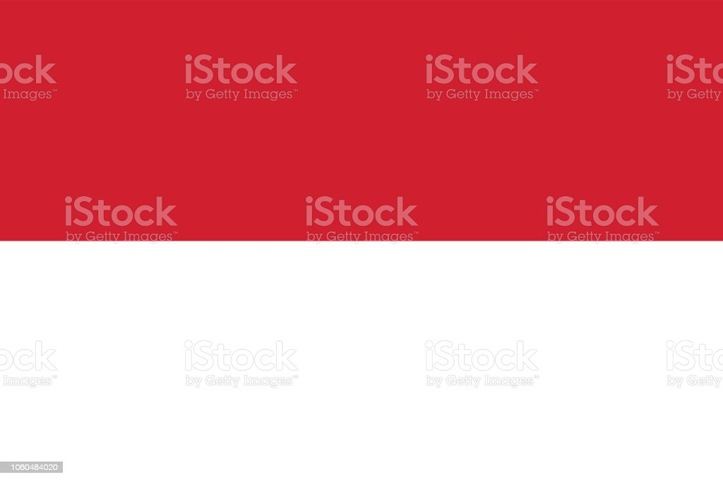 Vector Image of Indonesia Flag vector art illustration