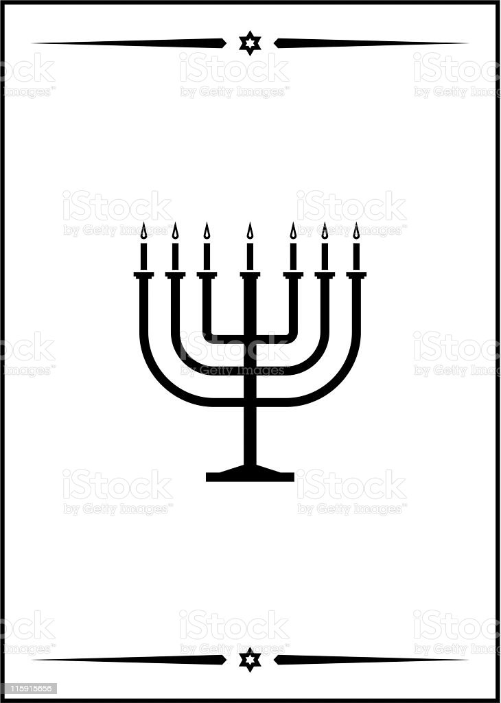 Vector image of Menorah royalty-free vector image of menorah stock vector art & more images of burning