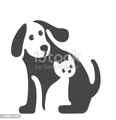 istock Vector image of Pet logo on white 1269517302