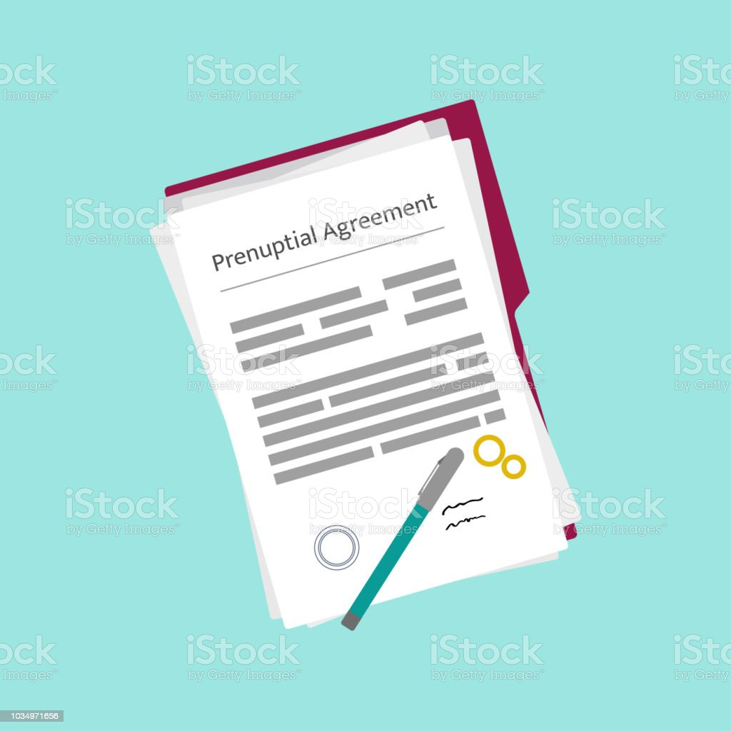 Vector Image Of Prenuptial Agreement Form Stock Vector Art More