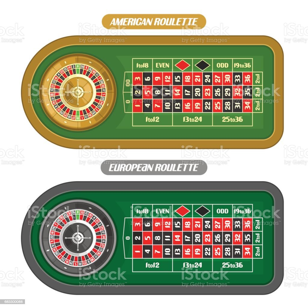 Vector image of Roulette Table vector art illustration