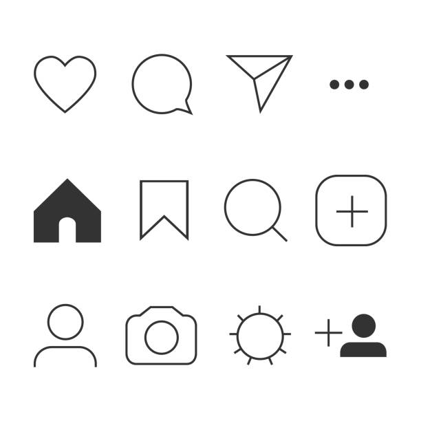 Vector image of set Internet icons. Vector image of set Internet icons. カラフル stock illustrations