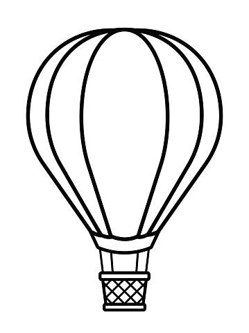 Hot Air Balloon Basket Clip Art Black And White