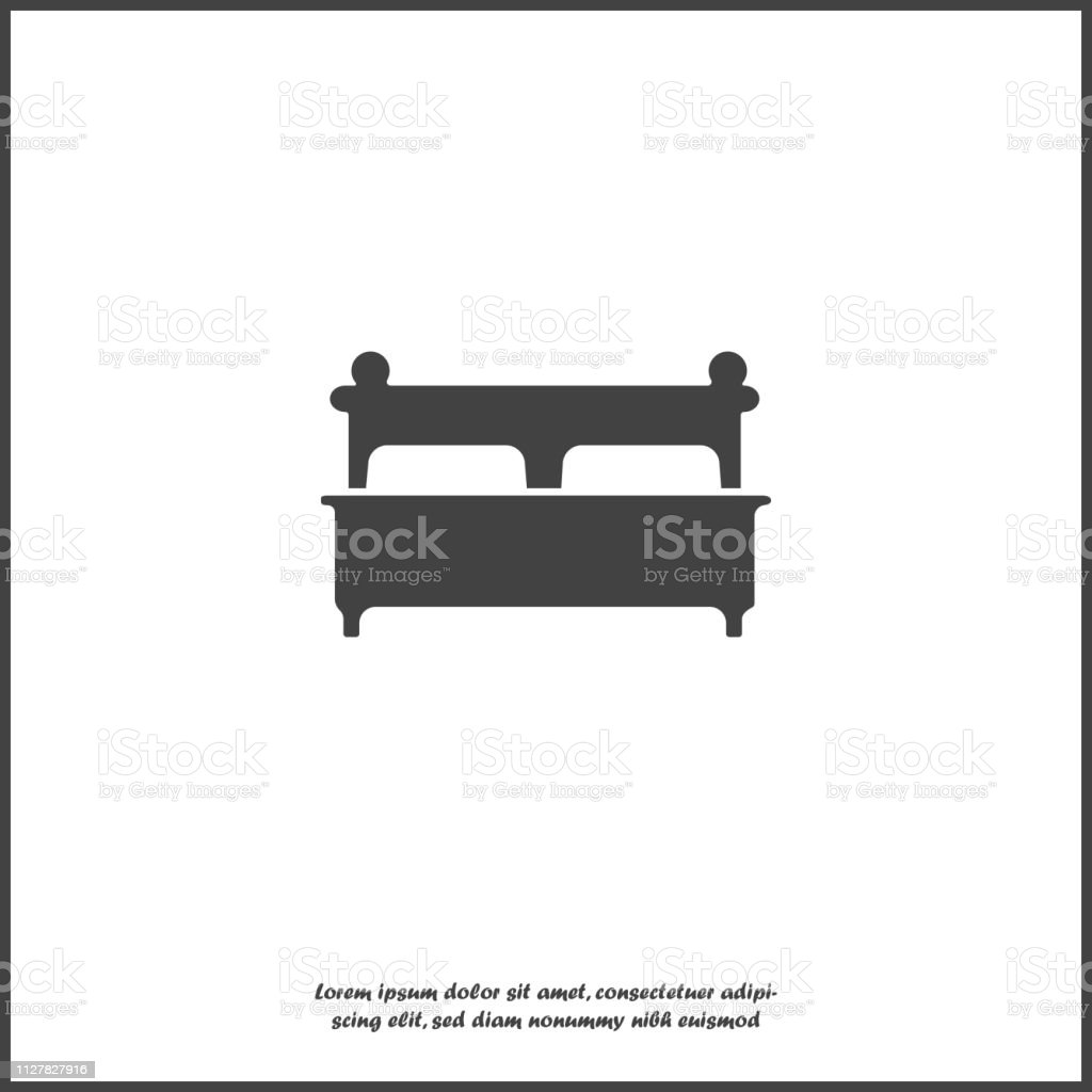 Vector Image Of The Bed Flat Bed Icon Vector Icon On White Isolated