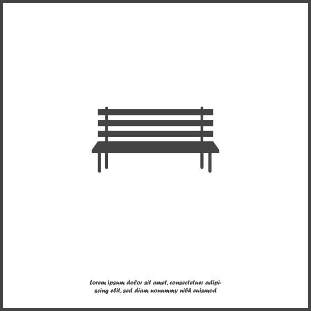 bildbanksillustrationer, clip art samt tecknat material och ikoner med vektorbild av bänken. vektor symbol på vit isolerade bakgrund - bench