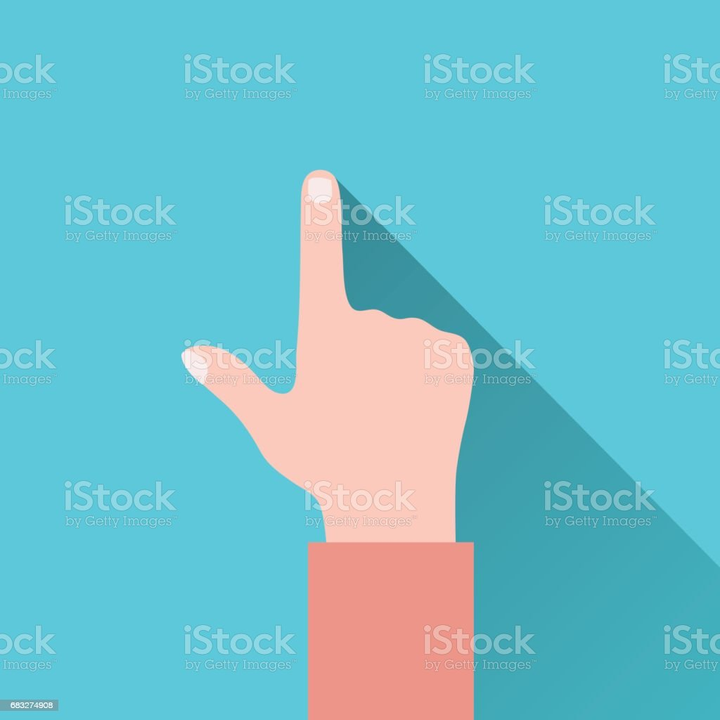 Vector image of the pointing hand. vector art illustration
