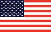 Vector image of United States of America flag