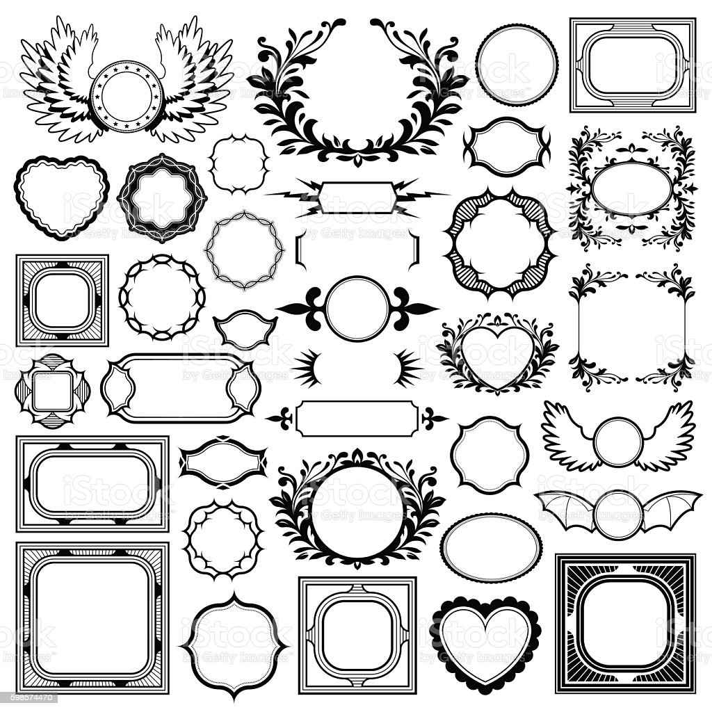 Vector Image Of Various Frames Over White Background Stock Vector ...