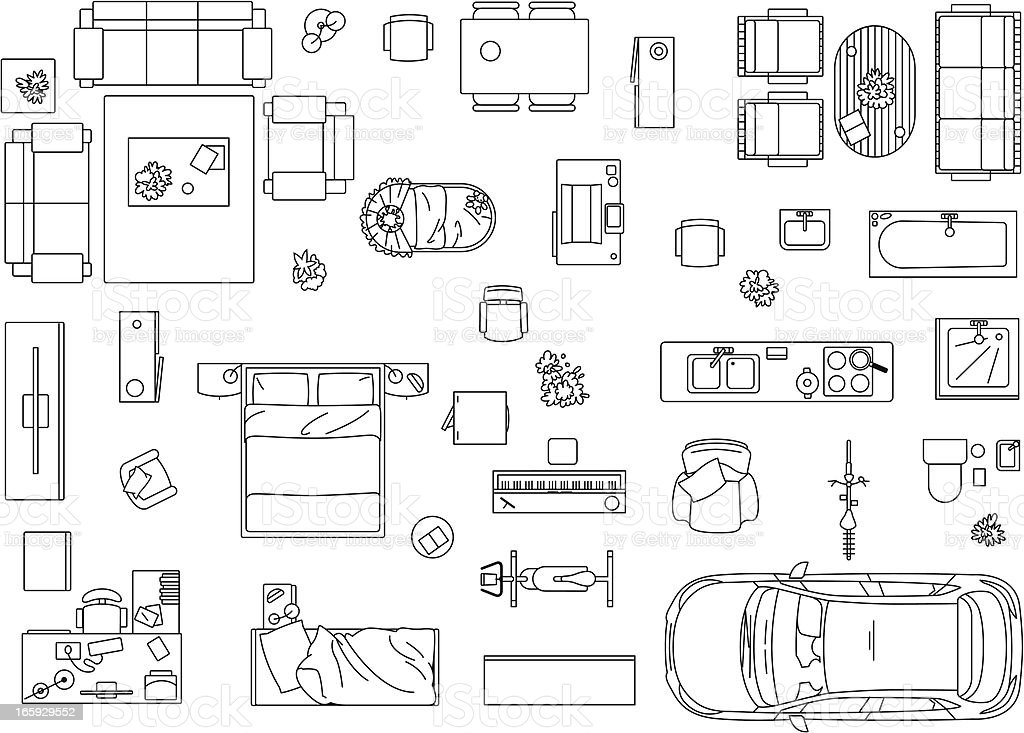Vector image set of furniture, appliances and car royalty-free vector image set of furniture appliances and car stock vector art & more images of appliance