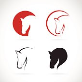 Vector images of horse design on a white background