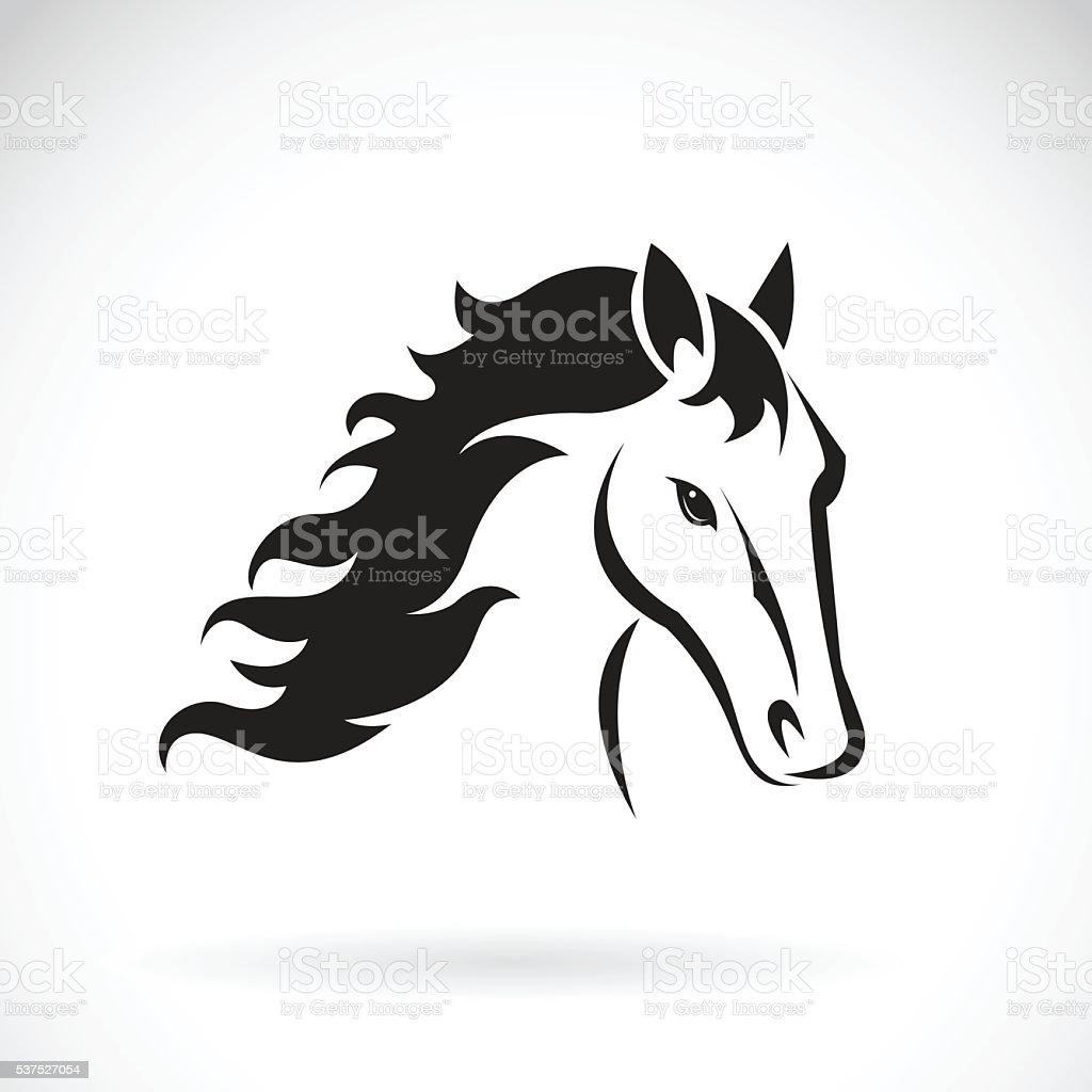 Vector images of horse head design vector art illustration