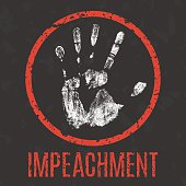 Vector. Impeachment inscription
