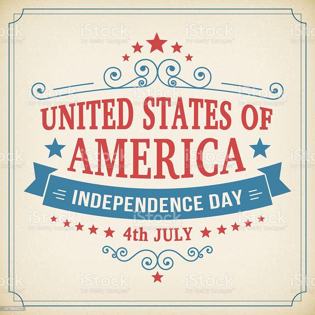 Wektor Dzień Niepodległości 4 Lipca America Plakat