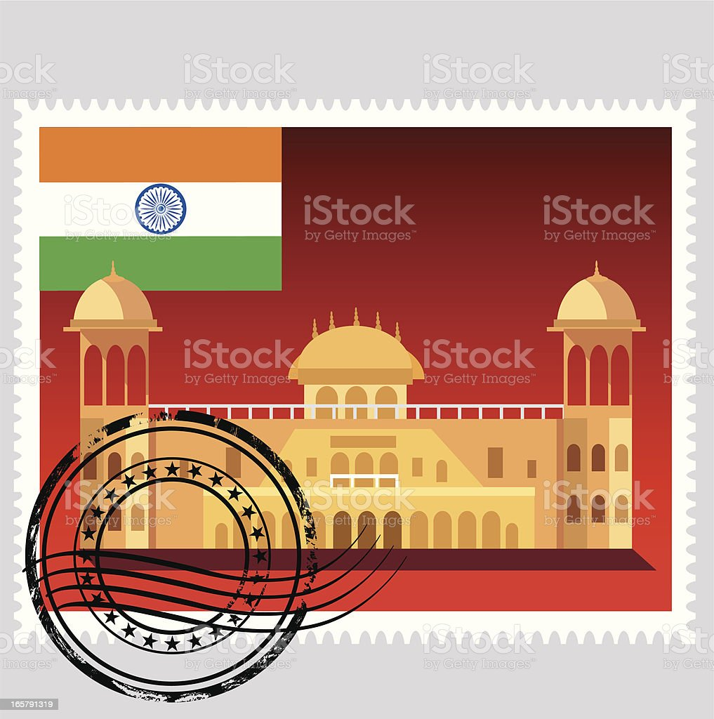 Vector India Stamp royalty-free stock vector art